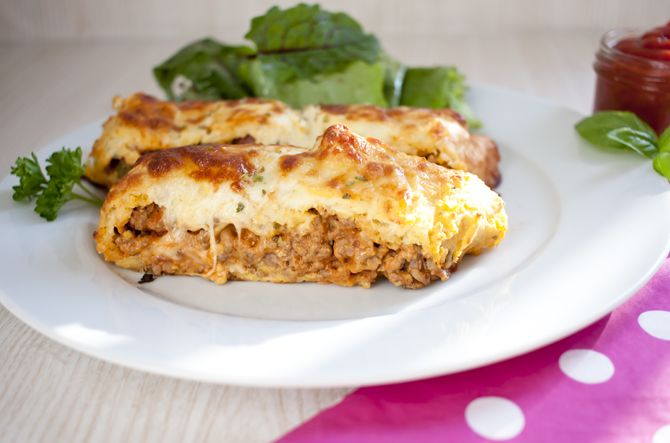 Low Carb Rezepte: Low Carb Cheeseburger Calzone