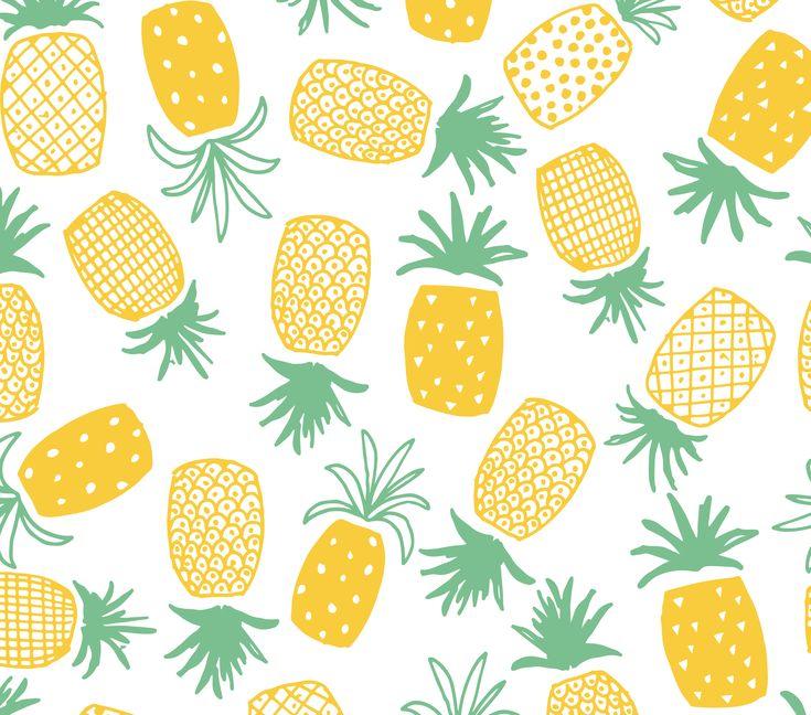 Pineapple Print Seamless Pattern