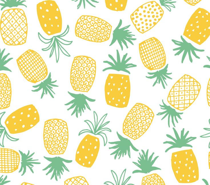 Pineapple Print Seamless Pattern by origamiprints on @creativemarket