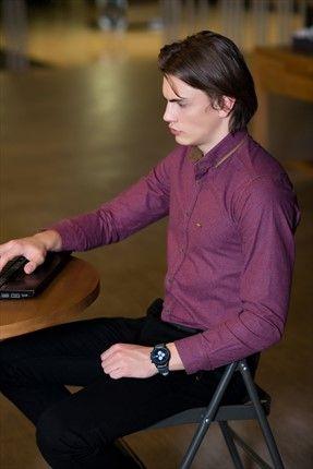 Stil Sahibi Erkekler · Ofis Modası - Bordo Gömlek 12398 %56 indirimle 39,99TL ile Trendyol da