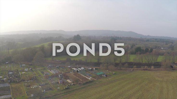 2.7K Aerial Shot Train Track Bridge Field Woodland Countryside Golf Course Drone - Stock Footage | by RyanJonesFilms