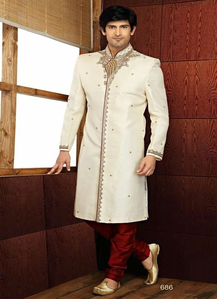 Sherwani for Men: Buy our latest collection of Sherwani suits for the men at home.