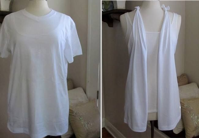 Creative T-Shirt Cutting Ideas - #10: DIY Shrug