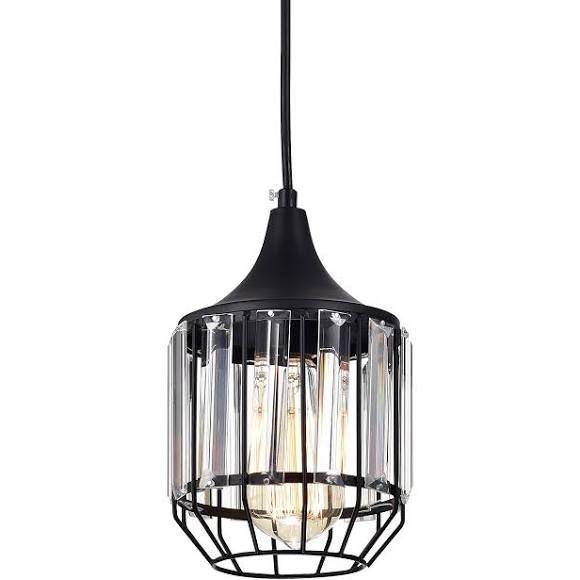 Lalula Black Vintage Pendant Lighting Mini Crystal Chandeliers Kitchen Island Light Fixtur With Images Vintage Pendant Lighting Pendant Lighting Crystal Chandelier Kitchen