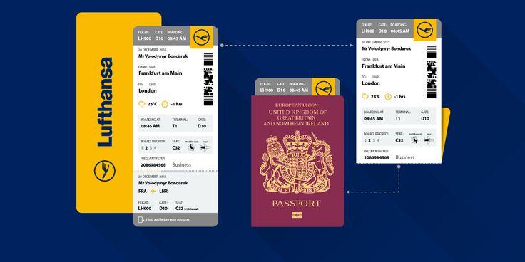 Boarding Pass (Lufthansa)