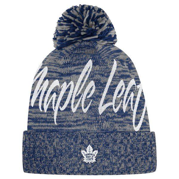 198cf367df9ec Women s Toronto Maple Leafs adidas Blue - Cuffed Knit Hat with Pom ...