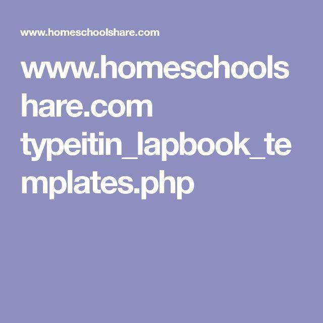 wwwhomeschoolshare typeitinlapbooktemplatesphp  4