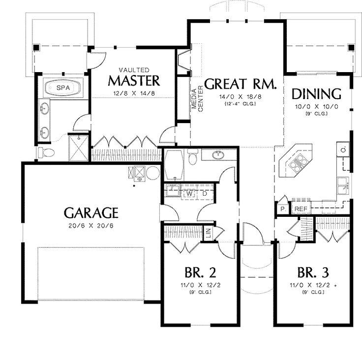 California Bungalow Floor Plans: Best 25+ Bungalow Floor Plans Ideas On Pinterest