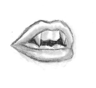 Vampire Fangs Take 3! I love the sketch and the style of this drawing. They look pretty ready to bite...