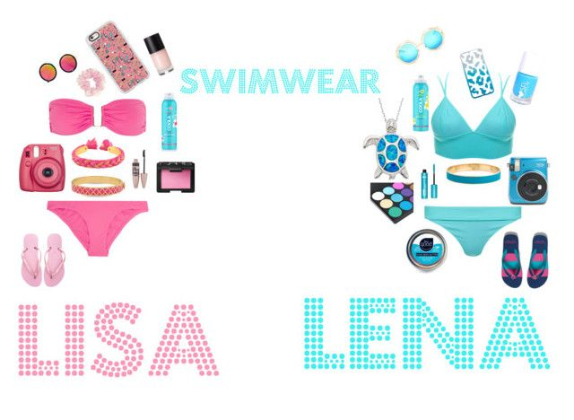 """""""lisa and lena outfit#5"""" by basinillomarie on Polyvore featuring Melissa Odabash, Havaianas, LULUS, Fujifilm, Casetify, Aurélie Bidermann, Halcyon Days, Maybelline, NARS Cosmetics and Bower"""