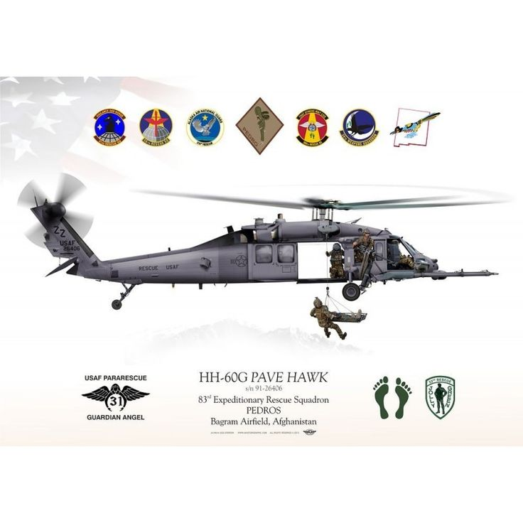 "HH-60G ""Pave Hawk"" 33d RQS Afghanistan JP-1497B Reference:  JP-1497B Condition:  New product  UNITED STATES AIR FORCE . PACIFIC AIR FORCES  (33D RESCUE SQUADRON, 18TH WING) 83rd Expeditionary Rescue Squadron PEDROS Bagram Airfield, Afghanistan"