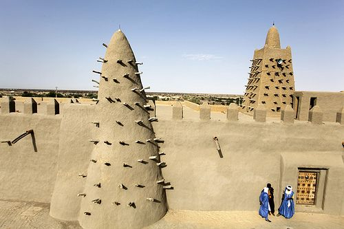 An unique desert architecture in Timbuktu, Mali.