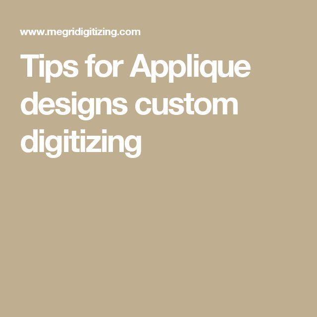 Tips for Applique designs custom digitizing