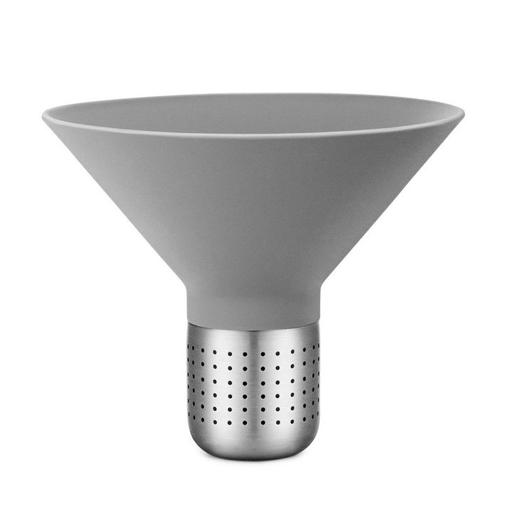 Silicone and Steel Tea Strainer