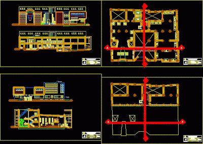 Plan Autocad d'un Musée en DWG