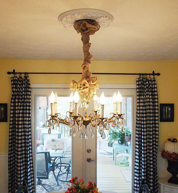 dining room decorating autumn changes i made chandeliers dining rooms and diy chandelier. Black Bedroom Furniture Sets. Home Design Ideas
