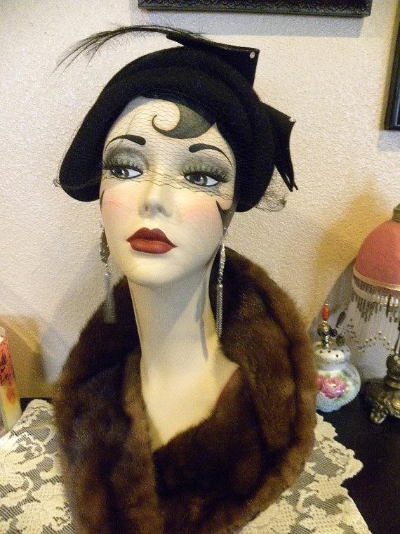 Art Deco Flapper Mannequin Head | by sharonsherrod