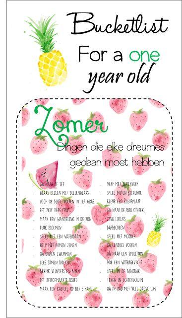 Bucketlist. Eén jaar. Dreumes. Peuter. Things to do. Zomer. www.ooaki.blogspot.nl