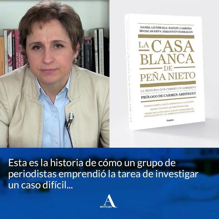 """Aristegui Noticias en Twitter: """"Prólogo del libro #LaCasaBlanca de Enrique Peña Nieto"""", escrito por Carmen Aristegui…"""