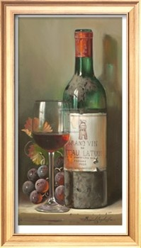 Chateau Latour Premium Giclee Print by Raymond Campbell at Art.com