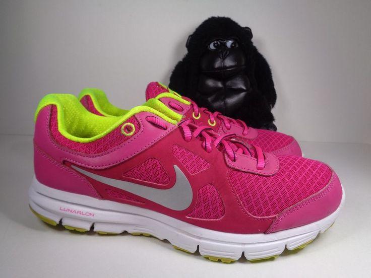 Nike Lunarlon Forever 488164 -101 White & Purple Running Shoes Womens Size 7.5