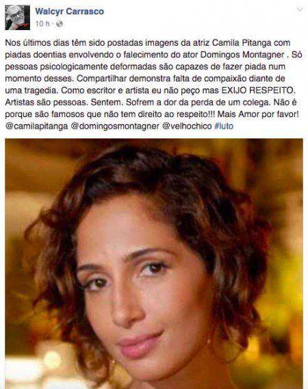 Protesto contra as piadas de mau gosto sobre Camila Pitanga