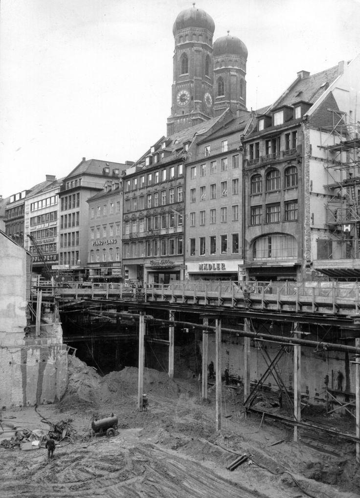S Bahn Bau Marienplatz Kaufingerstrasse 1968 02 Munchen Kaufingerstrasse Oktoberfest Kaufingerstrasse Ma S Bahn Munchen Oktoberfest Munchen City