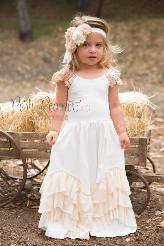 flower girl dress flower girl dresses vintage by PoshPeanutKids