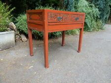 Oriental Red Lacquered Chest of drawers. console table. dresser