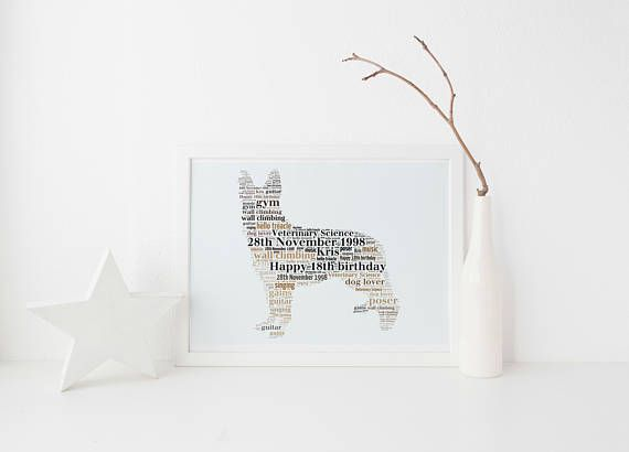 German Shepherd Alsatian Dog Custom Print FREE UK Postage