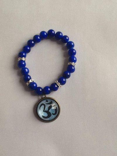 Om. Aum. Yoga. Buddhism. Bracelet. Jewellery. Handmade. Www.releasingthebutterflywithin.weebly.com. Or facebook: unique handmade jewellery by RTBW