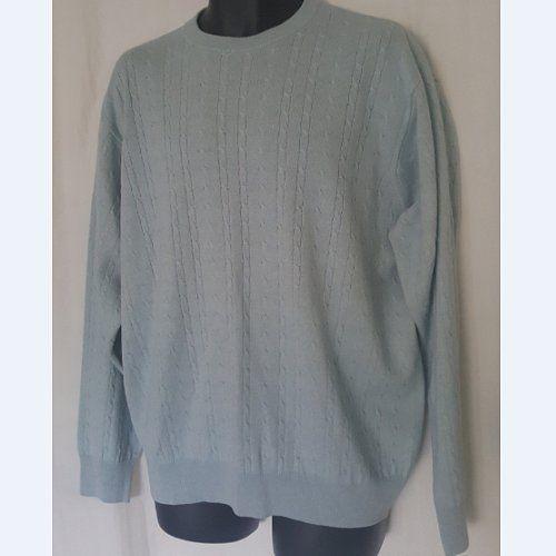 I Levrieri Men's XL Cashmere / Silk Sweater Cable Knit Light Blue #ILEVRIERI #Crewneck eBay Shopportunities*Store