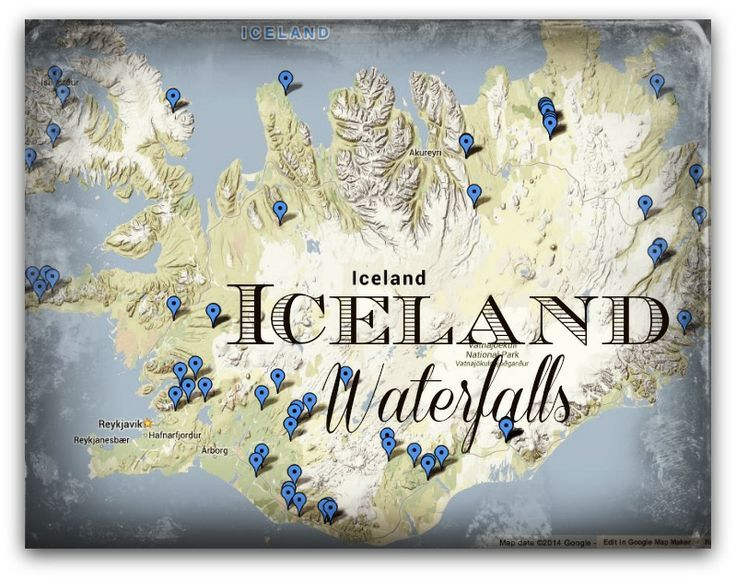 Map of Iceland Waterfalls | Svava Sparey Yoga Holidays #iceland #travel