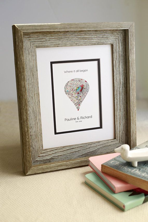 example0th wedding anniversary newspaper announcements%0A Where It All Began Gift For Couples Wedding Gift Art  Custom Anniversary    st Anniversary Gift  Gift for Her  Engagement Gift