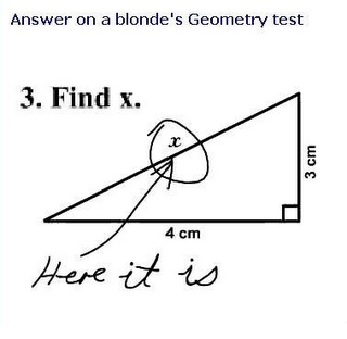I am not blond but that is my answer too!