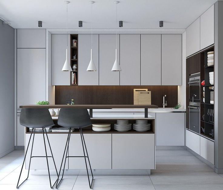 40 Minimalist Kitchens To Get Super Sleek Inspiration Kitchen Interior Design Modern