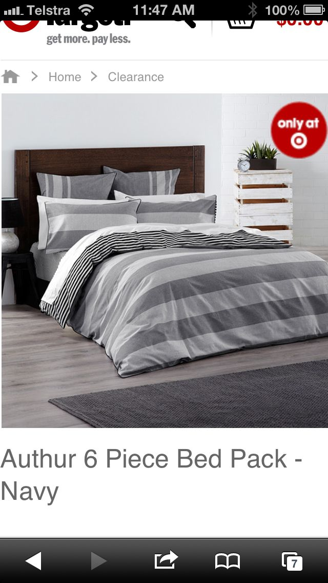 Authur 6 Piece Bed Pack - $60 from Target
