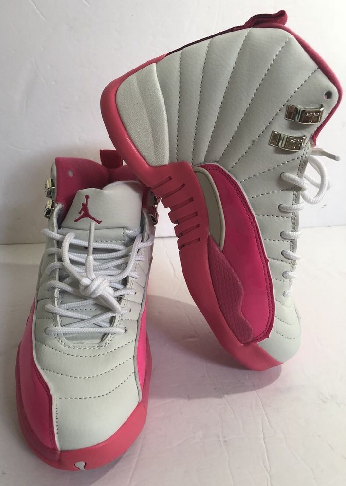 5319705523c Details about Nike Pink White Black Size 4 Youth Shoes Athletic Lace ...