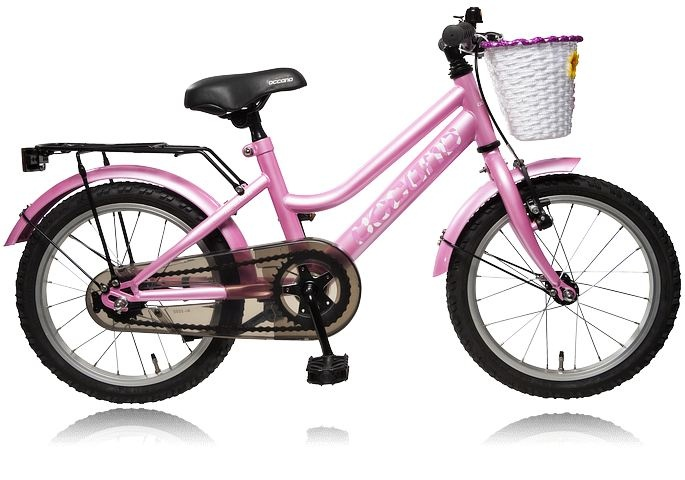 """Barncykel med fot och handbroms. OCCANO K 16"""" Y511 S13 GIRL.     Se alla cyklar på stadium.se: http://www.stadium.se/sport/cykel/cyklar"""