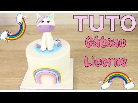 ♡• GATEAU PÂTE À SUCRE LICORNE - UNICORN CAKE - CAKE DESIGN KAWAII •♡ - YouTube
