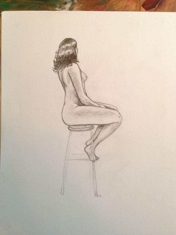 Life drawing. 25 mins