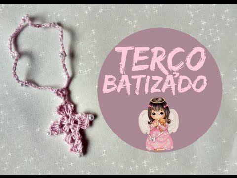 Lembrancinha de batizado: Terço de crochê - YouTube