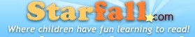 Starfall.com opened in September of 2002 as a free public service to teach children to read with phonics. Our systematic phonics approach, in conjunction with phonemic awareness practice, is perfect for preschool, kindergarten, first grade, second grade, special education, homeschool, and English language development (ELD, ELL, ESL). Starfall is an educational alternative to other entertainment choices for children.