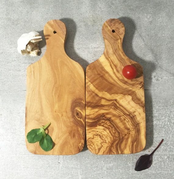 Set of 2 Olive Wood Cutting Boards / Chopping Board small