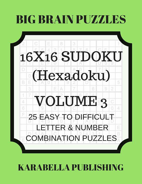 Hexadoku  sudoku 16x16  16x16 sudoku  sudoku print  mega