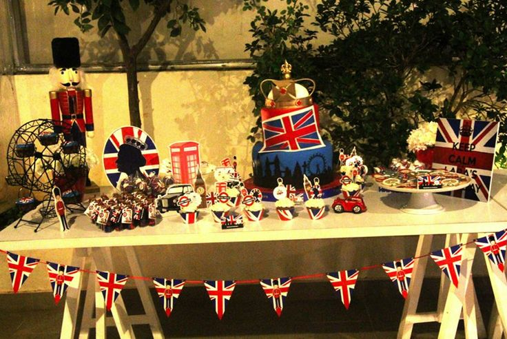 Decorating Ideas > London Theme Birthday Party England Queen Union Jack Flag  ~ 195014_Birthday Party Ideas London