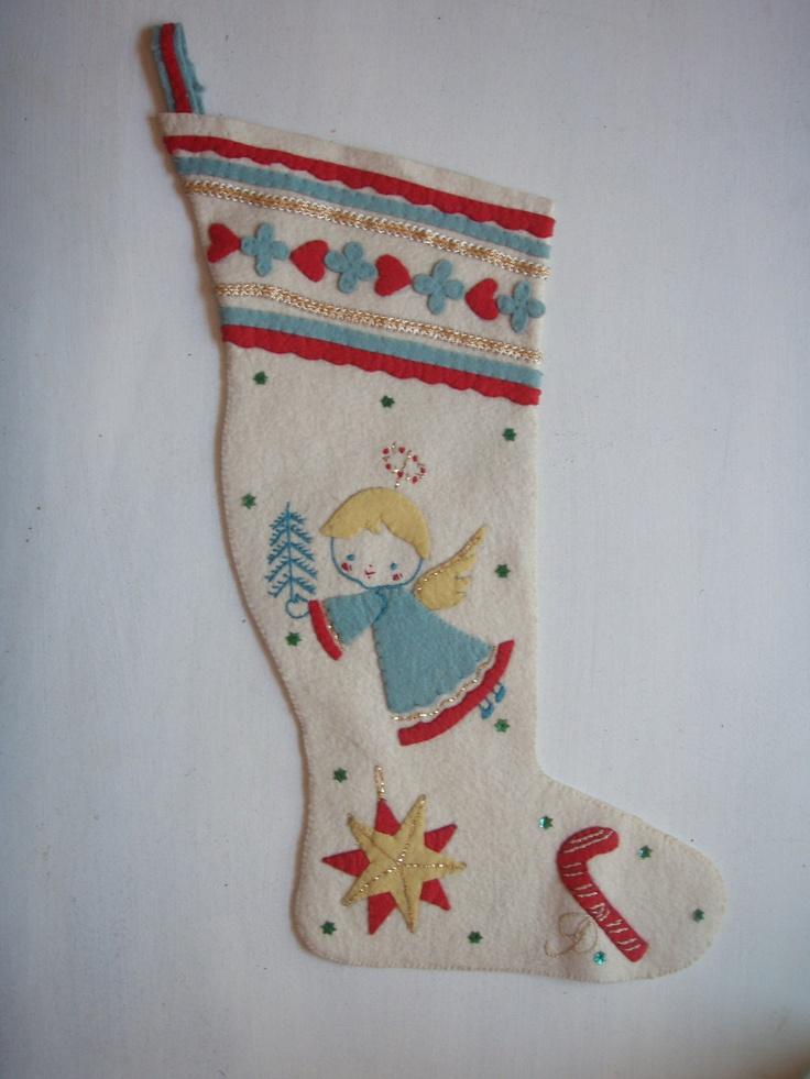 vintage felt stockings sequins eBay