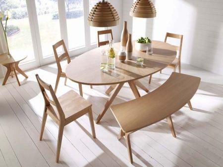 Malmo Oval White Solid Oak Veneer Dining Set