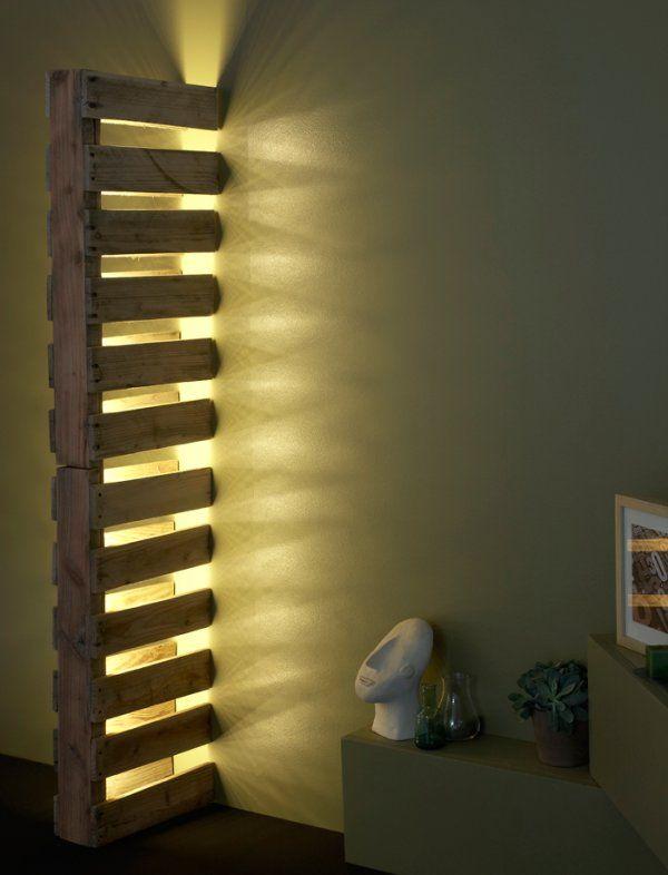 Wall Pallet Lamp - Wood Lamp - iD Lights | iD Lights