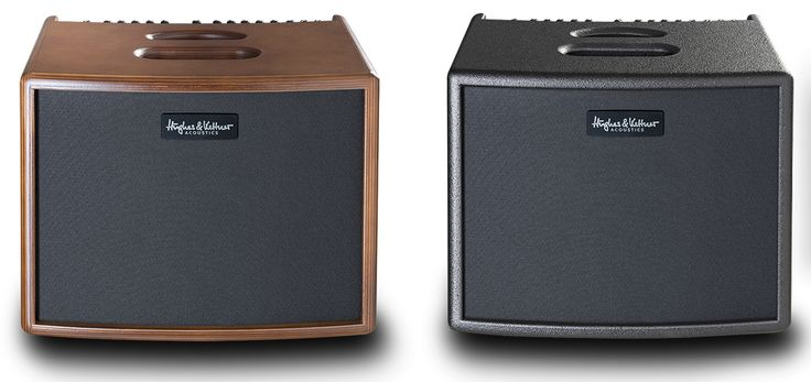 The Hughes & Kettner era 1 acoustic amplifier is available in black or wood finishes.